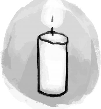 Candle Illustration for Bereavement and Sympathy Catering