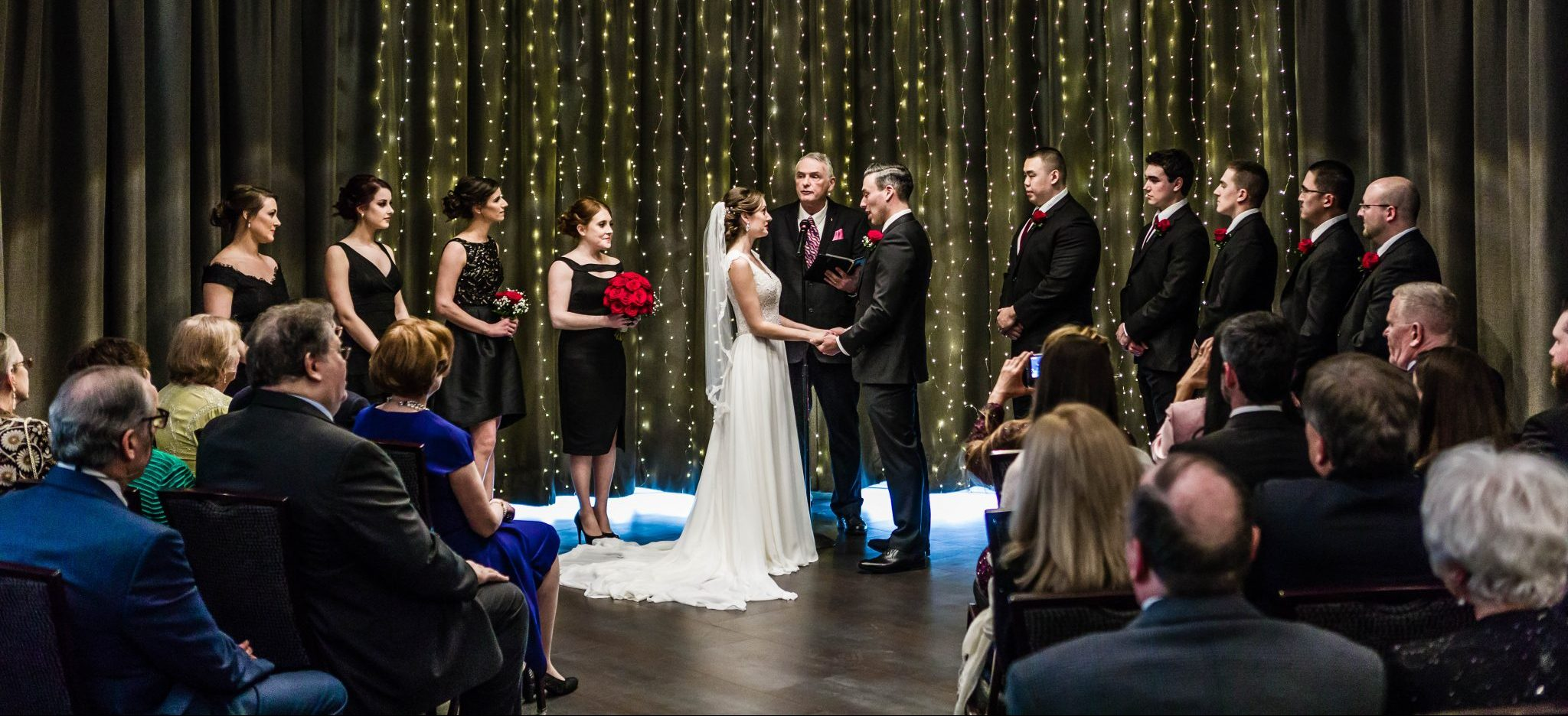 wedding ceremony at Greyline